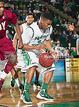 North Texas Mean Green guard Chris Jones (5) in action during the game between the Troy Trojans and the University of North Texas Mean Green at the North Texas Coliseum,the Super Pit, in Denton, Texas. UNT defeats Troy 87 to 65.....