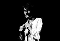 Francis Cabrel in concert at the Spectrum on April 26, 1984.<br /> <br /> File Photo : Agence Quebec Presse   - Denis Alix