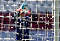GUADALAJARA, MEXICO - MARCH 18: David Ochoa #20 of the United States hydrating before a game between Costa Rica and USMNT U-23 at Estadio Jalisco on March 18, 2021 in Guadalajara, Mexico.