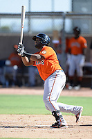 San Francisco Giants first baseman Angel Villalona (65) during an instructional league game against the Oakland Athletics on September 27, 2013 at Papago Park Baseball Complex in Phoenix, Arizona.  (Mike Janes/Four Seam Images)