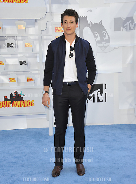 Miles Teller at the 2015 MTV Movie Awards at the Nokia Theatre LA Live.<br /> April 12, 2015  Los Angeles, CA<br /> Picture: Paul Smith / Featureflash