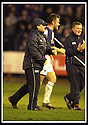25/1/03       Copyright Pic : James Stewart                  .File Name : stewart-falkirk v hearts 28.YOGI HUGHES AND IAN MACCALL CELEBRATE AT THE END OF THE GAME......James Stewart Photo Agency, 19 Carronlea Drive, Falkirk. FK2 8DN      Vat Reg No. 607 6932 25.Office : +44 (0)1324 570906     .Mobile : + 44 (0)7721 416997.Fax     :  +44 (0)1324 570906.E-mail : jim@jspa.co.uk.If you require further information then contact Jim Stewart on any of the numbers above.........