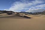 Great Sand Dunes National Park with Sangre de Cristo Range, Colorado. John offers private photo tours to Great Sand Dunes National Park and Rocky Mountain National Park, Colorado.