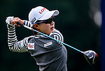 Hyo-Joo Kim of Korea in action during the Hyundai China Ladies Open 2014 practice day on December 11 2014 at Mission Hills Shenzhen, in Shenzhen, China. Photo by Xaume Olleros / Power Sport Images