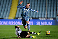 Claudio Terzi of Spezia Calcio and Robin Gosens of Atalanta BC compete for the ball during the Serie A football match between Spezia Calcio and Atalanta BC at Dino Manuzzi stadium in Cesena (Italy), November 20th, 2020. Photo Andrea Staccioli / Insidefoto