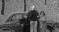 John Walmsley, photographer, with a couple of the kids, Scotland Road Free School, Liverpool  1971.  Also known as the Scotland Road or Scottie Road Free School it was founded and run by two teachers, John Ord and Bill Murphy (if I've got these names wrong, please tell me!) who worked with truanting kids and provided somewhere to go and things to do.  They begged and borrowed an old building, desks, books and an old ambulance for trips.