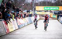 Annemarie Worst (NED/777) takes the win in the CX Superprestige Zonhoven (BEL) 2019<br /> women's race