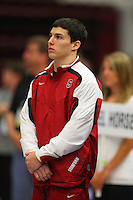 19 April 2008: Stanford Cardinal David Sender during the 2008 NCAA DI Men's Gymnastics Championships individual event final round at Maples Pavilion in Stanford, CA.