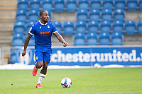 Callum Harriott of Colchester United looks for an option during Colchester United vs Oldham Athletic, Sky Bet EFL League 2 Football at the JobServe Community Stadium on 3rd October 2020
