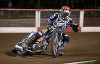 Peter Karlsson of Lakeside Hammers - Lakeside Hammers vs Leicester Lions, Elite League Speedway at the Arena Essex Raceway, Pufleet - 04/04/14 - MANDATORY CREDIT: Rob Newell/TGSPHOTO - Self billing applies where appropriate - 0845 094 6026 - contact@tgsphoto.co.uk - NO UNPAID USE