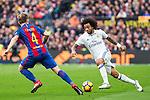 -FC Barcelona's Ivan Rakitic, Real Madrid's Marcelo Vieira during spanish La Liga match between Futbol Club Barcelona and Real Madrid  at Camp Nou Stadium in Barcelona , Spain. Decembe r03, 2016. (ALTERPHOTOS/Rodrigo Jimenez)