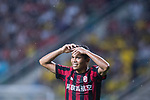 AC Milan Forward Carlos Bacca gestures during the International Champions Cup 2017 match between AC Milan vs Borussia Dortmund at University Town Sports Centre Stadium on July 18, 2017 in Guangzhou, China. Photo by Marcio Rodrigo Machado / Power Sport Images
