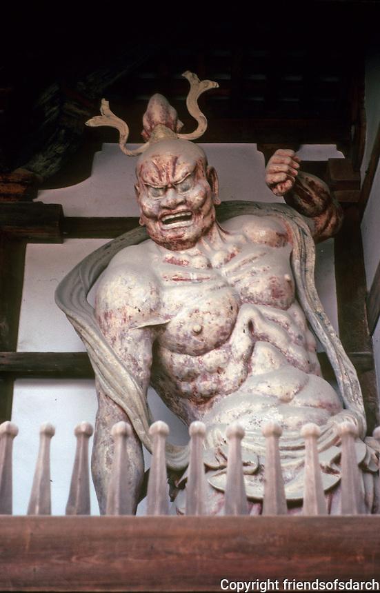 Nara: Horyuji, Guardian Figure. Photo '82.
