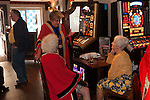 Damask Rose Ceremony Leicester 2016 Members of the Guild of Freemen enjoy a drink in the city centre O'Neill's pub after the ceremony.