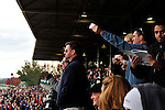 17 October 2009: Racing fans watch the start of the sixth race at Keeneland race course in Lexington Kentucky.