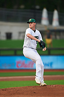 Beloit Snappers pitcher Dax Fulton (25) during a game against the Peoria Chiefs on August 18, 2021 at ABC Supply Stadium in Beloit, Wisconsin.  (Mike Janes/Four Seam Images)