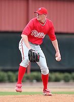 March 25, 2010:  Pitcher Jacob Diekman of the Philadelphia Phillies organization during a Spring Training game at the Carpenter Complex in Clearwater, FL.  Photo By Mike Janes/Four Seam Images