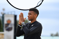 11th April 2021; Roquebrune-Cap-Martin, France;  Felix Auger Aliassime during practise sessions for the  Rolex Monte Carlo Masters
