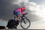 Hugh John Carthy (ENG) EF Pro Cycling in action during Stage 13 of the Vuelta Espana 2020 an individual time trial running 33.7km from Muros to Mirador de Ézaro. Dumbría, Spain. 3rd November 2020. <br /> Picture: Luis Angel Gomez/PhotoSportGomez | Cyclefile<br /> <br /> All photos usage must carry mandatory copyright credit (© Cyclefile | Luis Angel Gomez/PhotoSportGomez)