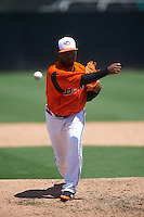 Bowie Baysox pitcher Mychal Givens (40) delivers a pitch during a game against the Reading Fightin Phils on July 22, 2015 at Prince George's Stadium in Bowie, Maryland.  Bowie defeated Reading 6-4.  (Mike Janes/Four Seam Images)