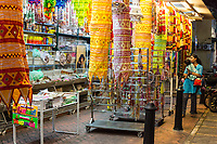 George Town, Penang, Malaysia.  Store Selling Home Decorative Items.