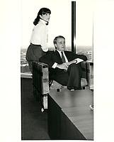 Mila et  Brian Mulroney le 13 mars 1982.<br /> <br /> PHOTO : agence quebec presse