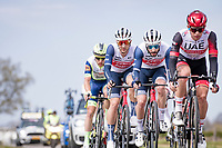 Edward Theuns (BEL/Trek-Segafredo) & Julien Bernard (FRA/Trek - Segafredo)<br /> <br /> 55th Amstel Gold Race 2021 (1.UWT)<br /> 1 day race from Valkenburg to Berg en Terblijt; raced on closed circuit (NED/217km)<br /> <br /> ©kramon