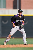 Colorado Rockies Jose Gomez (66) during an Instructional League game against the Los Angeles Angels of Anaheim on October 6, 2016 at the Tempe Diablo Stadium Complex in Tempe, Arizona.  (Mike Janes/Four Seam Images)