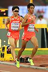 (L to R) <br /> Tetsuya Yoroizaka, <br /> Kota Murayama (JPN), <br /> AUGUST 22, 2015 - Athletics : <br /> 15th IAAF World Championships in Athletics Beijing 2015 <br /> Men's 10000m Final <br /> at Beijing National Stadium in Beijing, China. <br /> (Photo by YUTAKA/AFLO SPORT)