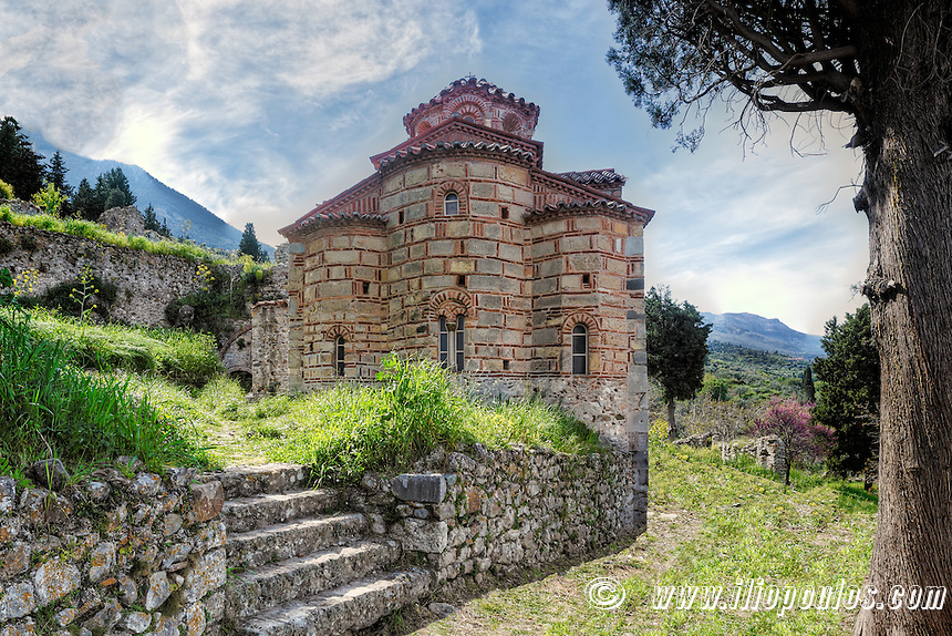 The church of Evangelistria in Mystras, Greece