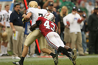 24 November 2007: Chijoke Amajoyi during Stanford's 21-14 loss to Notre Dame at Stanford Stadium in Stanford, CA.