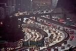 Automobile congestion, Seattle, Interstate 5, business district, rain, Pacific Northwest,
