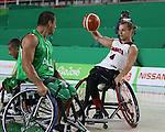 Nik Goncin, Rio 2016 - Wheelchair Basketball // Basketball en fauteuil roulant.<br /> Canada vs. Algeria in men's Wheelchair Basketball // Le Canada contre l'Algérie en basketball en fauteuil roulant masculin . 14/09/2016.