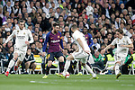 Real Madrid CF's Gareth Bale (L), Karim Benzema, Luka Modric  and FC Barcelona's Leo Messi during La Liga match. March 02,2019. (ALTERPHOTOS/Alconada)