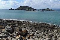 Blick auf die Inseln Jethou und Crevichin, Insel Herm, Kanalinseln