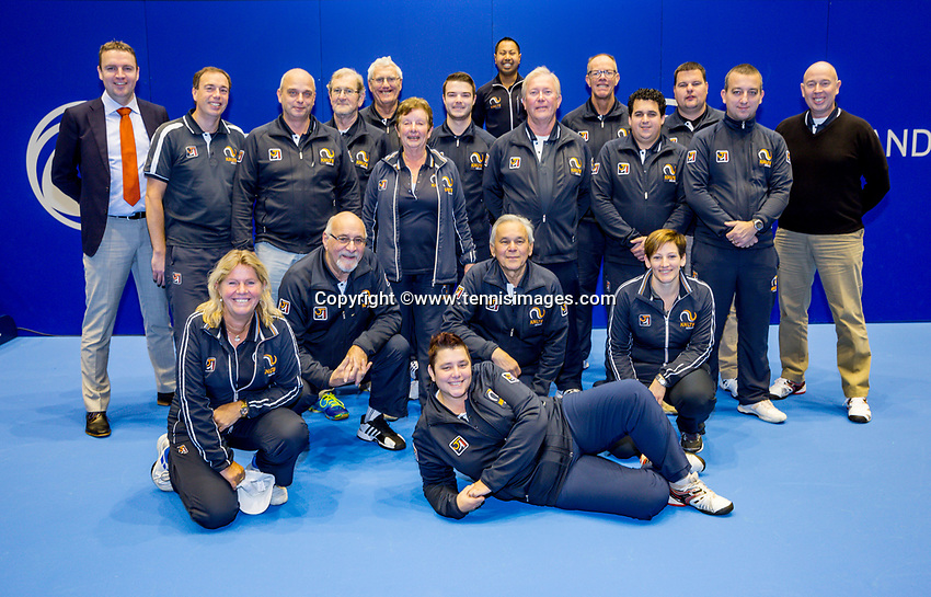 Rotterdam, Netherlands, December 17, 2017, Topsportcentrum, Ned. Loterij NK Tennis,Umpires and liespersons<br /> Photo: Tennisimages/Henk Koster