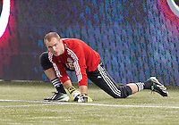 March 9, 2013: Toronto FC goalkeeper Stefan Frei #24 in action during the warm-up in a game between Toronto FC and Sporting Kansas City at the Rogers Centre in Toronto, Ontario Canada..Toronto FC won 2-1.