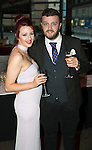 St Johnstone FC Hall of Fame Dinner, Perth Concert Hall….03.04.16<br />Adam Omeish and partner Lisa Marie<br />Picture by Graeme Hart.<br />Copyright Perthshire Picture Agency<br />Tel: 01738 623350  Mobile: 07990 594431