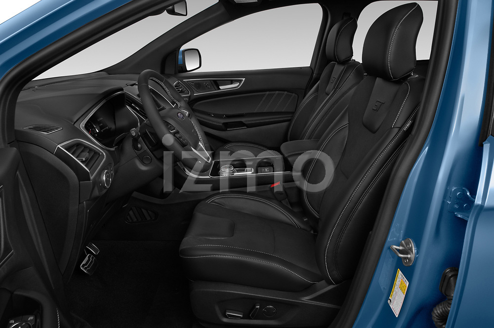 Front seat view of a 2019 Ford Edge ST 5 Door SUV front seat car photos