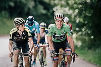 Daryl Impey (ZAF/Mitchelton-Scott) & Carlos Verona (ESP/Mitchelton-Scott)<br /> <br /> Stage 5: Grenoble > Valmorel (130km)<br /> 70th Critérium du Dauphiné 2018 (2.UWT)