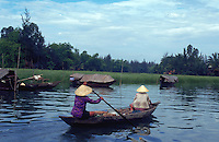 House boat on ThuBon River  Hoian Vietnam