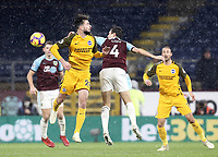 Brighton & Hove Albion's Davy Propper battles with Burnley's Jack Cork<br /> <br /> Photographer Rich Linley/CameraSport<br /> <br /> The Premier League - Burnley v Brighton and Hove Albion - Saturday 8th December 2018 - Turf Moor - Burnley<br /> <br /> World Copyright © 2018 CameraSport. All rights reserved. 43 Linden Ave. Countesthorpe. Leicester. England. LE8 5PG - Tel: +44 (0) 116 277 4147 - admin@camerasport.com - www.camerasport.com