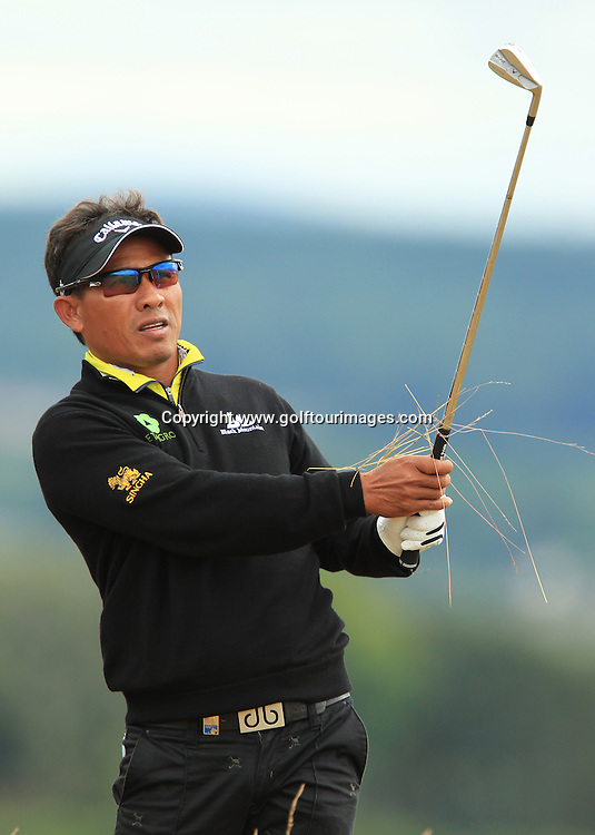 Thongchai Jaidee  during the second round of the 2012 Aberdeen Asset Management Scottish Open being played over the links at Castle Stuart, Inverness, Scotland from 12th to 14th July 2012:  Stuart Adams www.golftourimages.com:13th July 2012