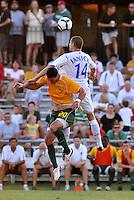 Greg Janicki #14, Vancouver Whitecaps, Jeff Cosgriff...AC St Louis and Vancouver Whitecaps played to a 0-0 tie at Anheuser-Busch Soccer Park, Fenton, Missouri.