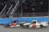 #52: Stewart Friesen, Halmar Friesen Racing, Chevrolet Silverado Halmar International, #51: Brandon Jones, Kyle Busch Motorsports, Toyota Tundra DuPont Air Filtration
