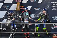 Maverick Vinales Yamaha second, Fabio Quartararo Sepang Racing Team SRT winner, Valentino Rossi Yamaha third <br /> Andalucia MotoGP 2020 <br /> Jerez 26/07/2020 Moto Gp Andalucia 2020 / Spain<br /> Photo Yamaha Press Office / Insidefoto <br /> EDITORIAL USE ONLY