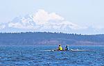 Port Townsend, Rat Island Regatta, rowers, racing, Jeff KnaKal, Thresa Knakal, Mill Creek, Sound Rowers, Rat Island Rowing Club, Puget Sound, Olympic Peninsula, Washington State, water sports, rowing, competition,