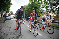 2013 Giro d'Italia.stage 13: Busseto - Cherasco ..Cadel Evans (AUS) chaperoned to the start