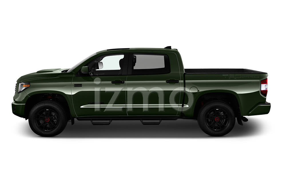 Car Driver side profile view of a 2020 Toyota Tundra TRD-Pro 4 Door Pick-up Side View
