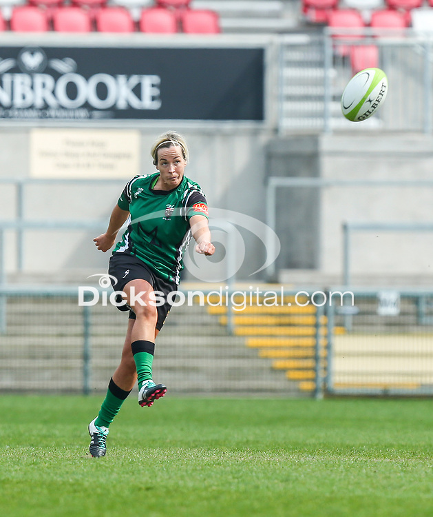Saturday 20th April 2019 | 2019 Ulster Women's Junior Cup Final<br /> <br /> Ciara Moore during the Ulster Women's Junior Cup final between Malone and City Of Derry at Kingspan Stadium, Ravenhill Park, Belfast. Northern Ireland. Photo John Dickson/Dicksondigital
